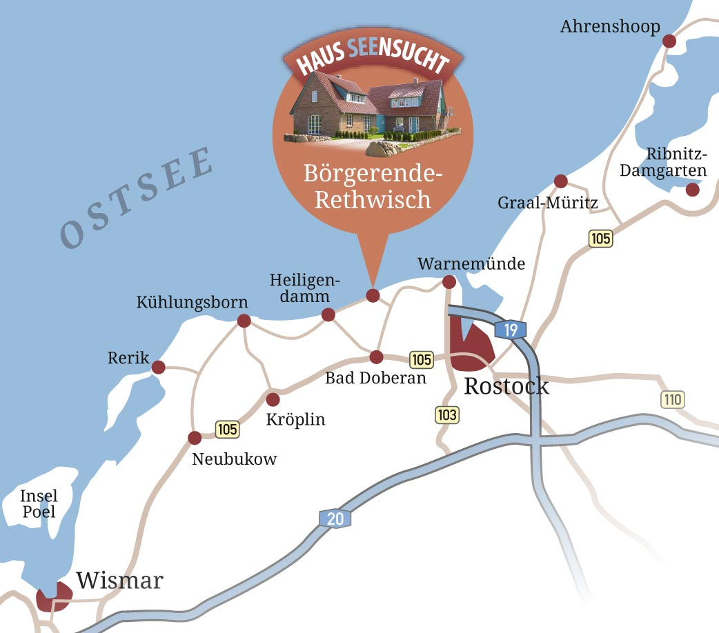 börgerende karte Börgerende Rethwisch » Haus Seensucht Ostsee börgerende karte